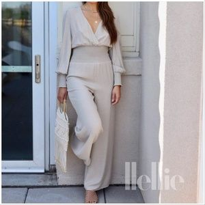Anthropologie Stacey Wide Leg Jumpsuit